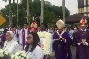 Kuching, Sarawak, Malaysia: Funeral of Fr James Meehan mhm